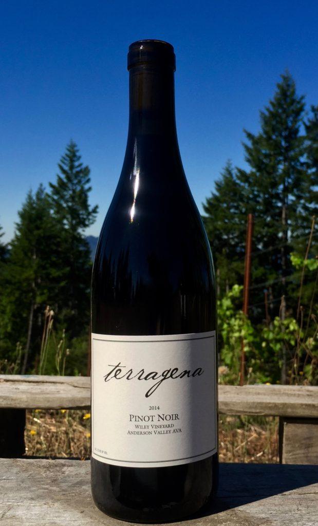 2014 Pinot Noir bottle vineyard tight full