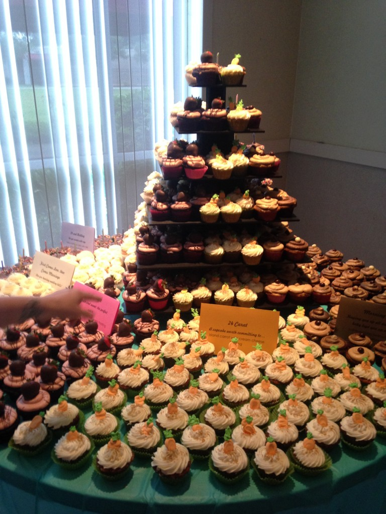 The famous cupcake table!
