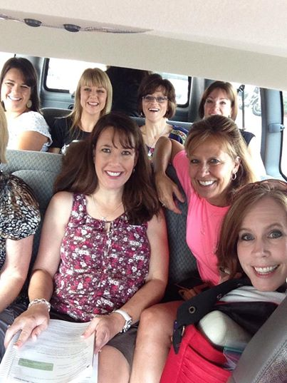 How many moms can you fit in a van? (This was some of us from The Mom Initiative team on our way to speak at the conference).
