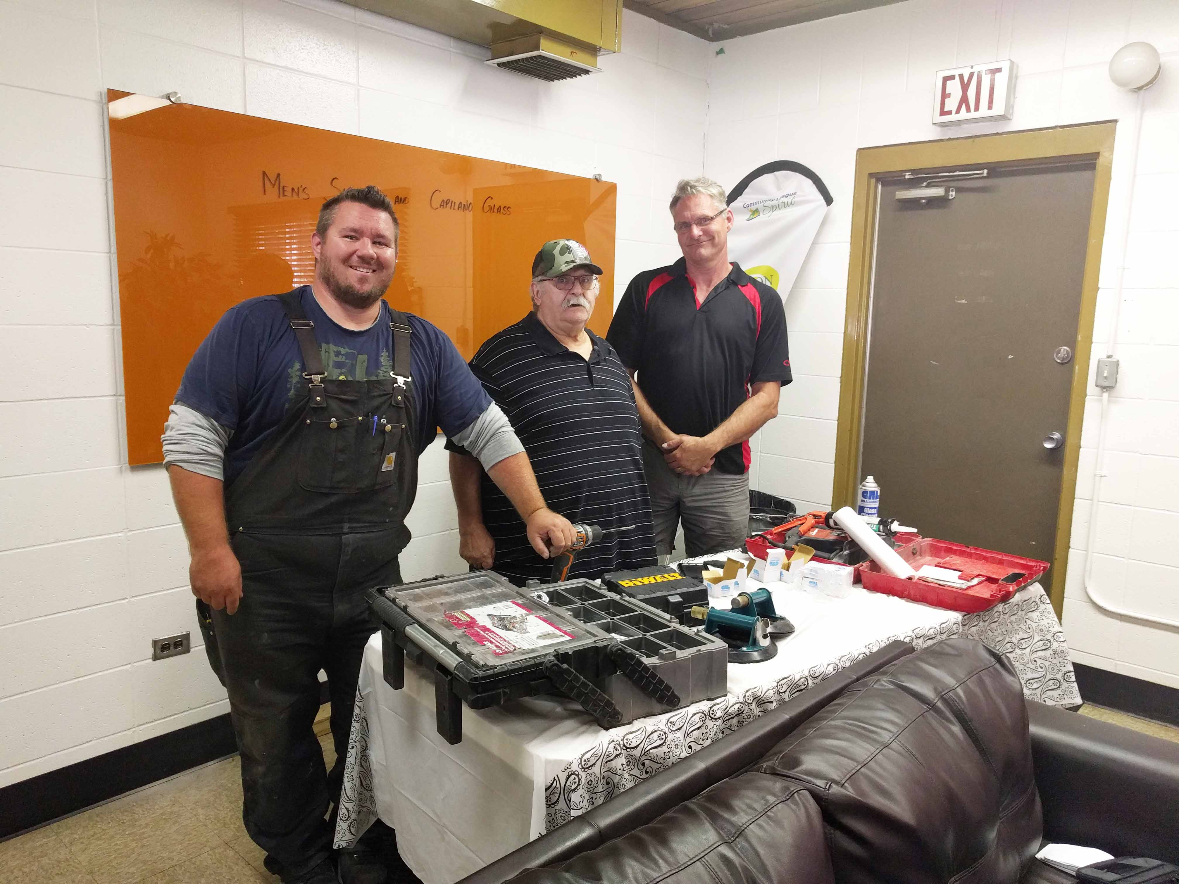 Men and their tools at Edmonton men's shed