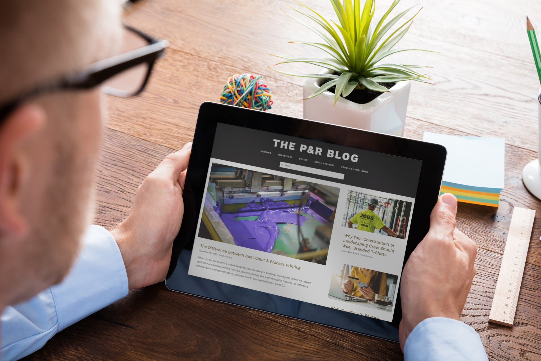 The P&R Blog on Tablet