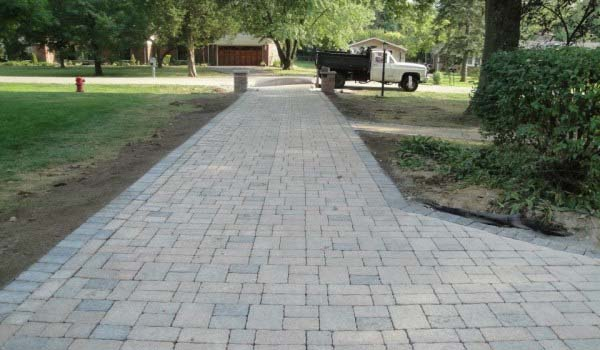 pavers or concrete