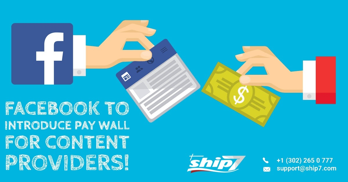 Facebook to introduce pay wall for content providers