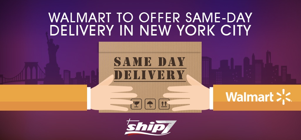 Walmart promises same day delivery in New York City after acquiring a logistics start-up