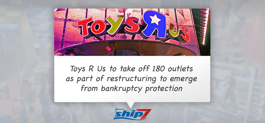 Toys R Us to restructure its business to wind up 180 stores across America