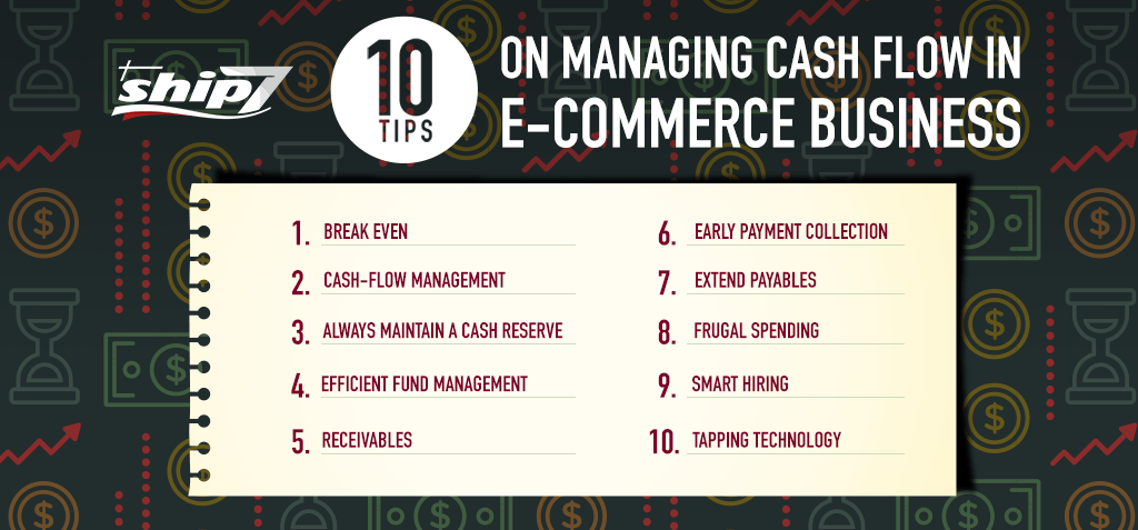 10 tips on managing cash flow in e-commerce business