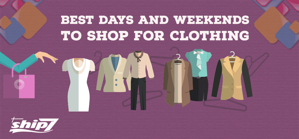 Best days to shop for clothing