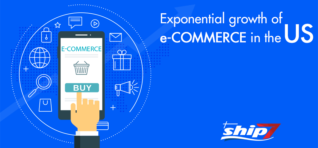 Exponential growth of e-commerce in the US