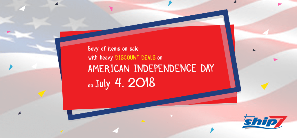 Bevy of items on Sale with heavy discount deals on American Independence Day July 4, 2018