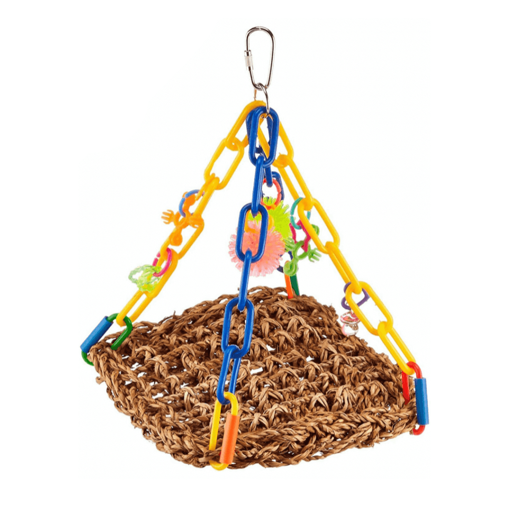 Super Bird Creations Bright Colorful Mini Flying Trapeze Chewable Bird Toy