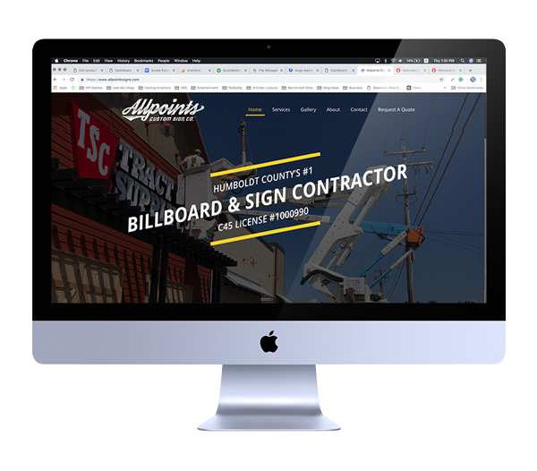 Sign Contractor Web Design - Eureka, CA