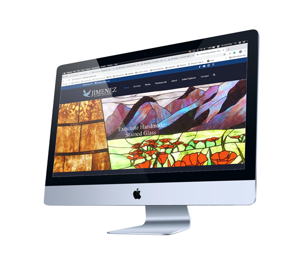 Web Design for Creative Glass Studio in Arcata, California