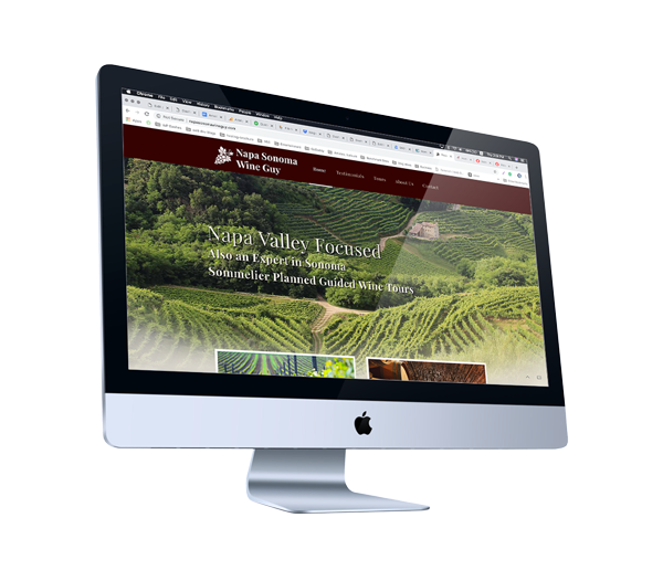 Web Design for Wine Country Tour Guide in Napa, California