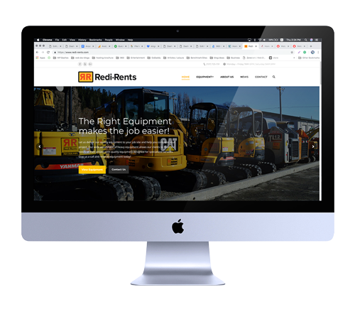 Web Design for Equipment Rental Business in Fortuna, California
