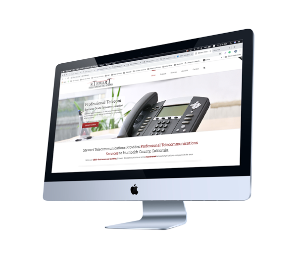 Web Design for Telecommunication Business in Northern California