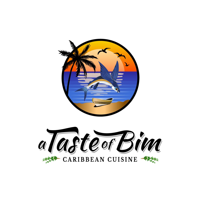 caribbean-restaurant-logo-design-portfolio-example-for-american-logo-designer-in-eureka-california