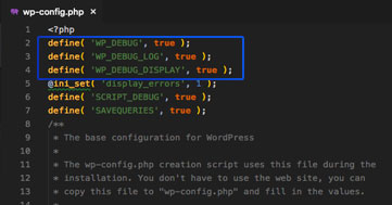 enabling-debugging-in-wordpress-by-editing-wp-config