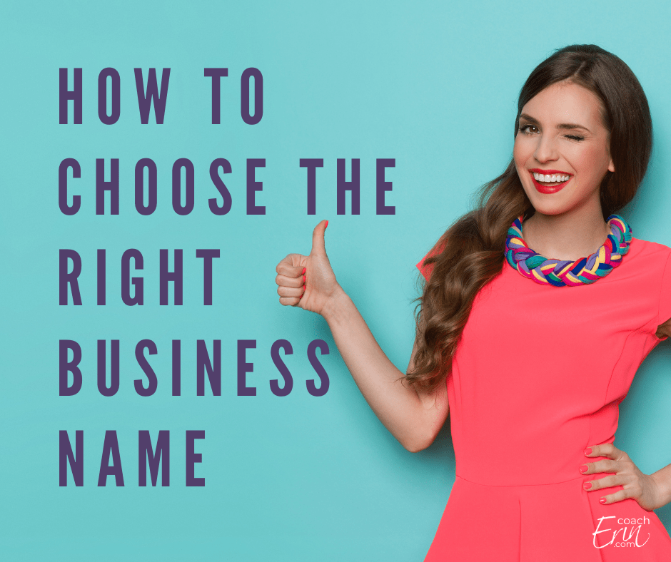 How to choose the right business name