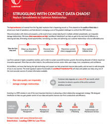 Struggling With Contact Data Chaos?