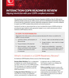 InterAction GDPR Readiness Review