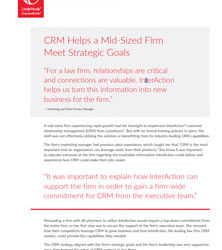 CRM Helps a Mid-Sized Firm Meet Strategic Goals