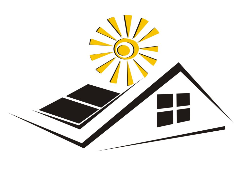 Sun powered vents for roofs