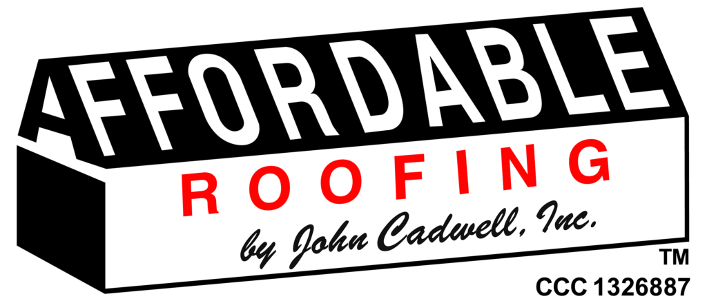 Affordable Roofing by John Cadwell, Inc. white cleaned logo