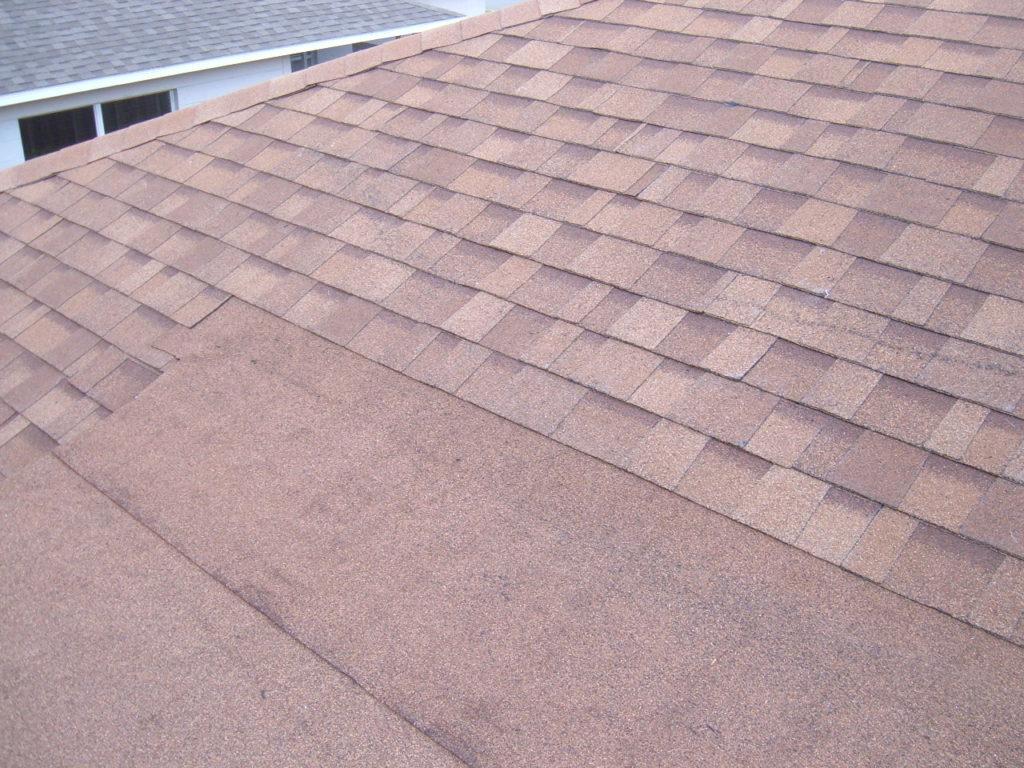 flat asphalt granule roofing material
