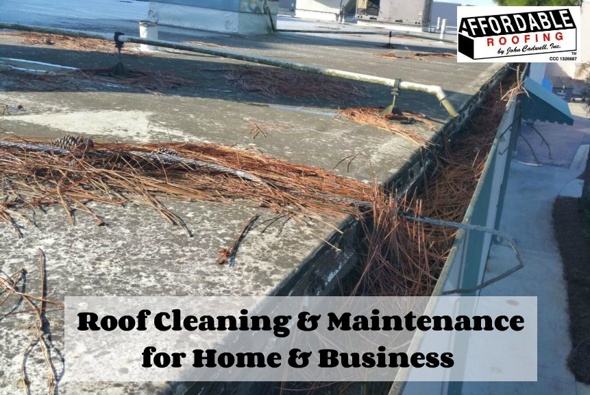 be sure to get your roof and gutters cleaned for efficiency