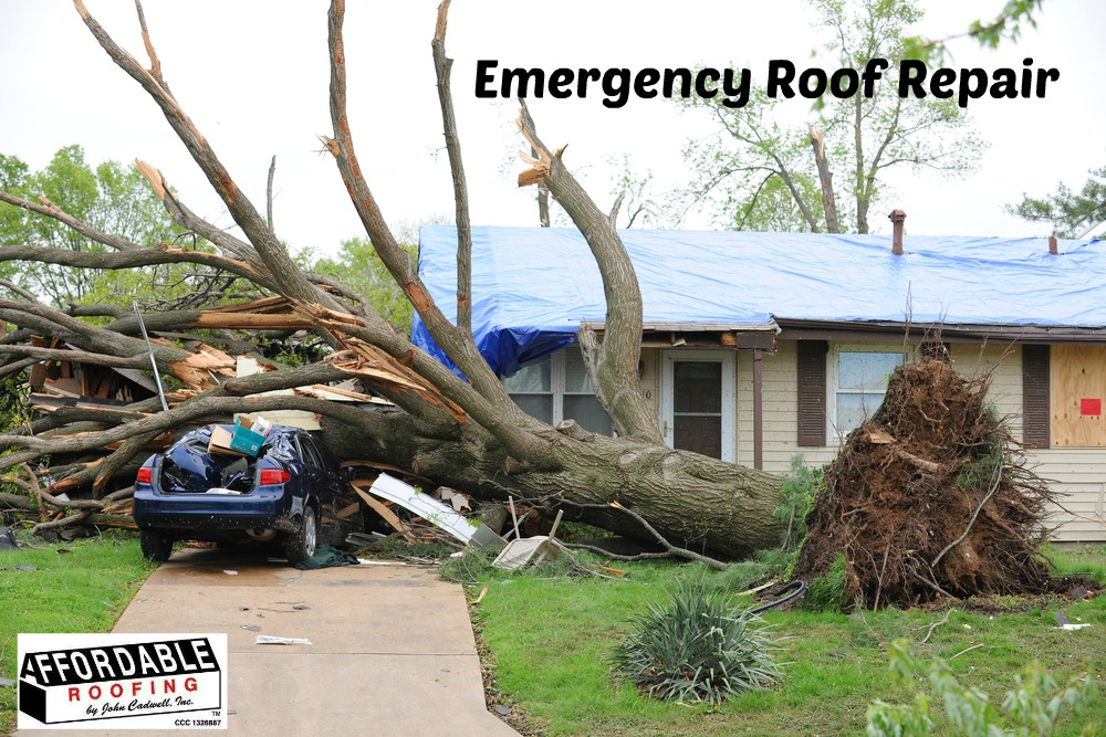 Follow these tips to temporarily fix your roof in case of an emergency