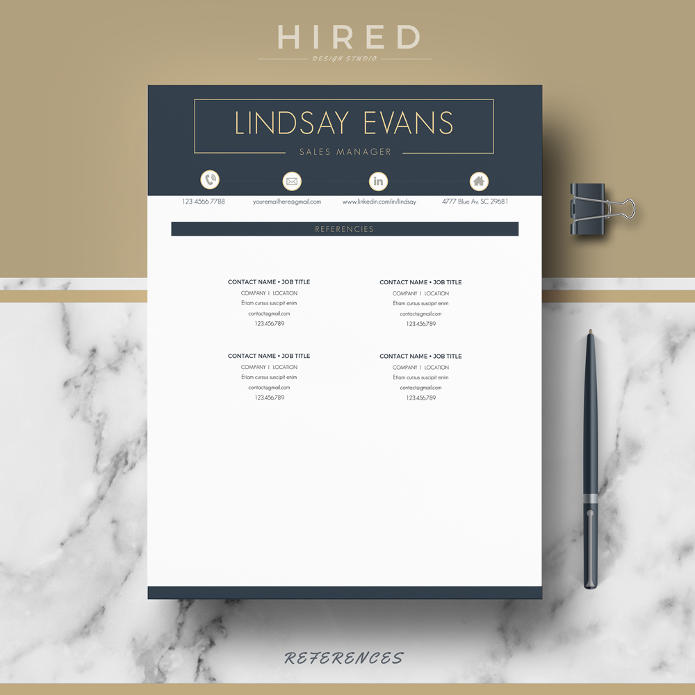 """Professional & Modern Resume Template for MS Word: """"Lindsay"""""""