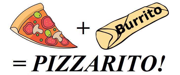 Vegan pizza burrito