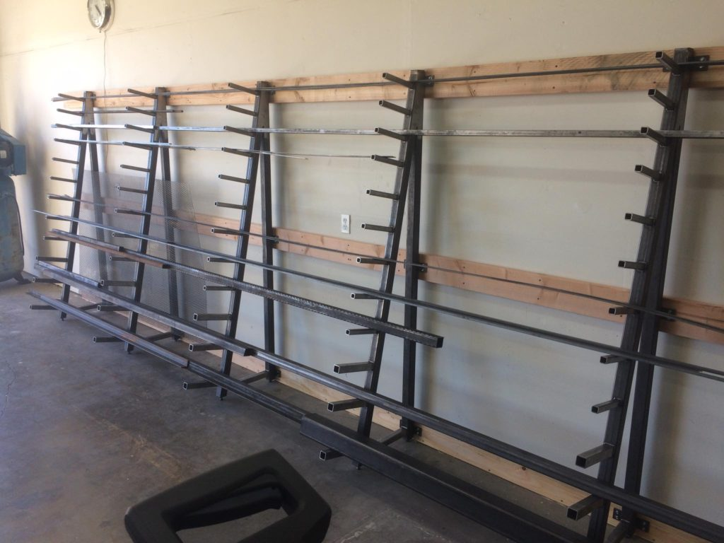 Metal rack for the shop!