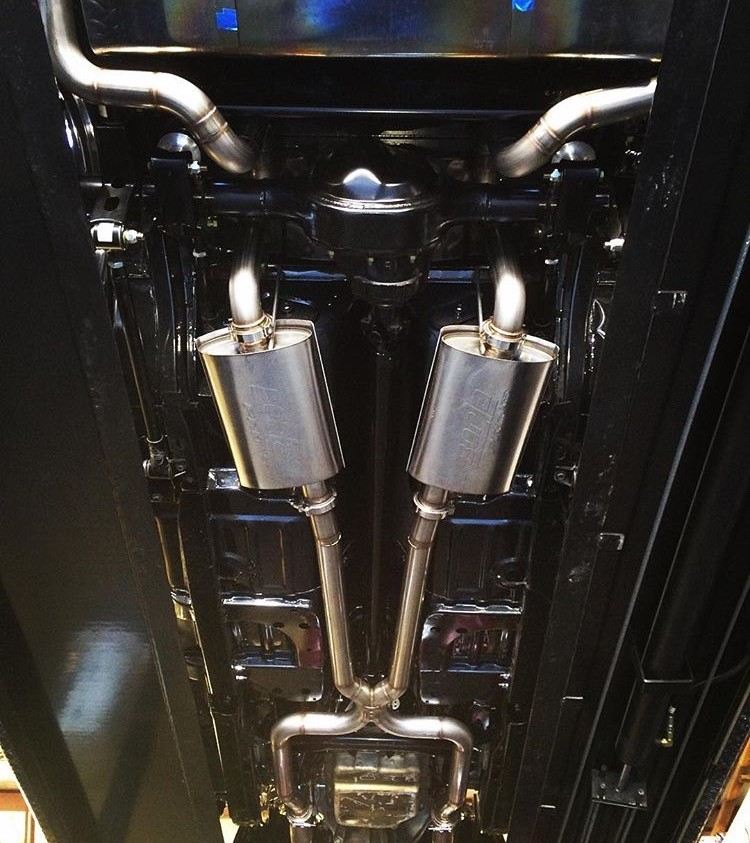 Mandrel bent 304 stainless exhaust system