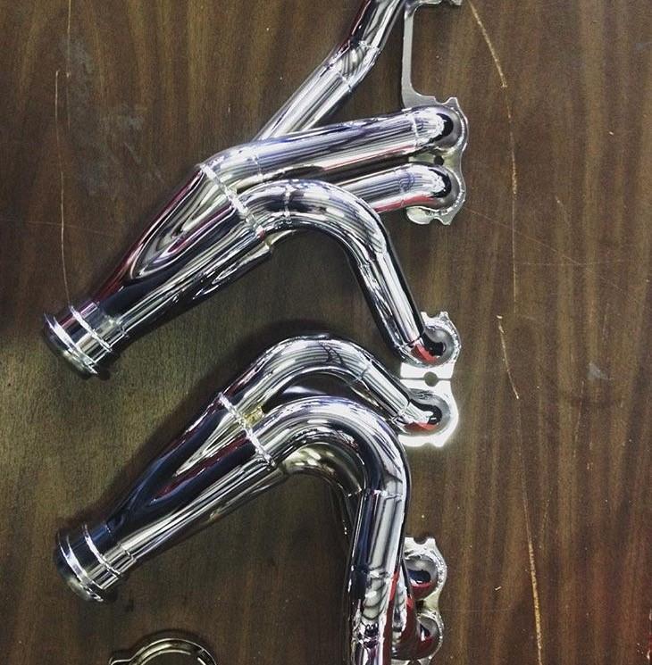 Custom built chrome headers