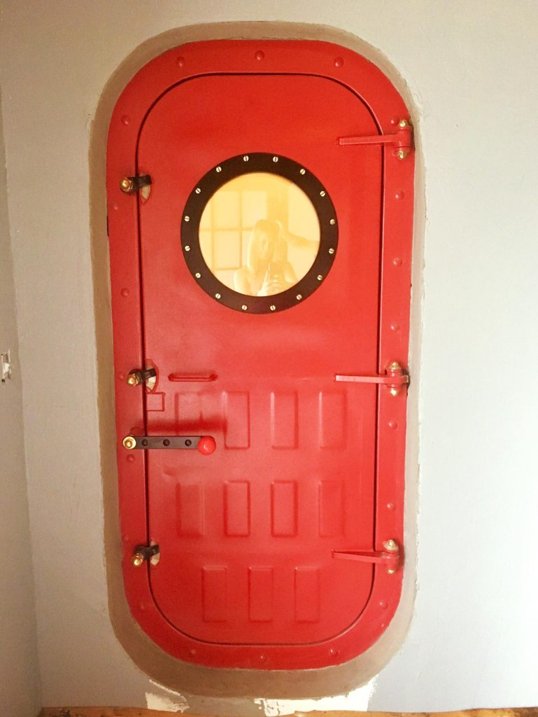 Submarine Door. Restoration, modification, and fabrication work.