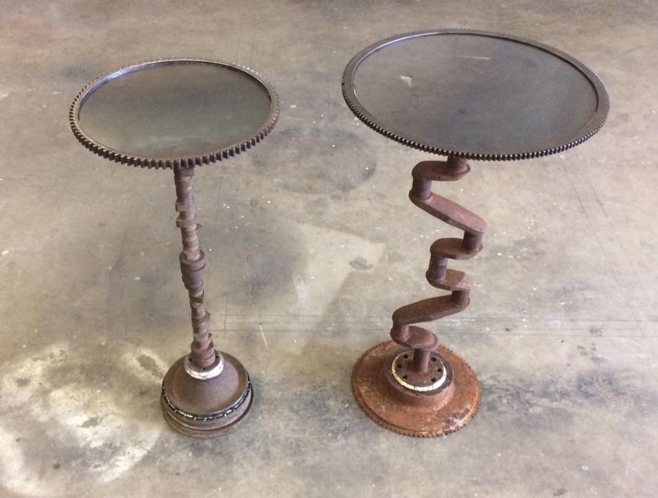 Custom tables made out of Model T Crank shafts