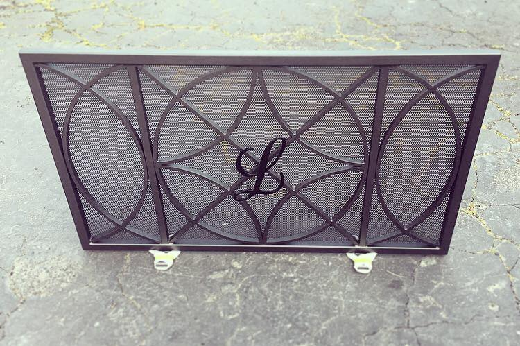 Custom Monogram Fireplace Screen