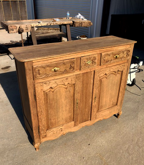 Fairbrother Designs - French two door Louis XV buffet in oak.