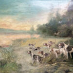 French Hunt Scene on Canvas