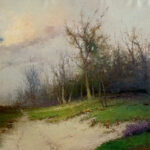 French Landscape - Oil On Canvas