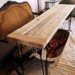 Reclaimed Oak and Beechwood Console Table