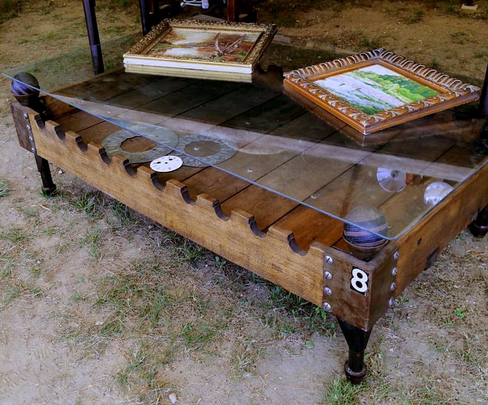 French Machine Gun Crate Coffee Table