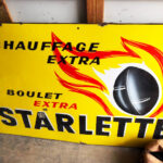 French Metal Advertising Sign