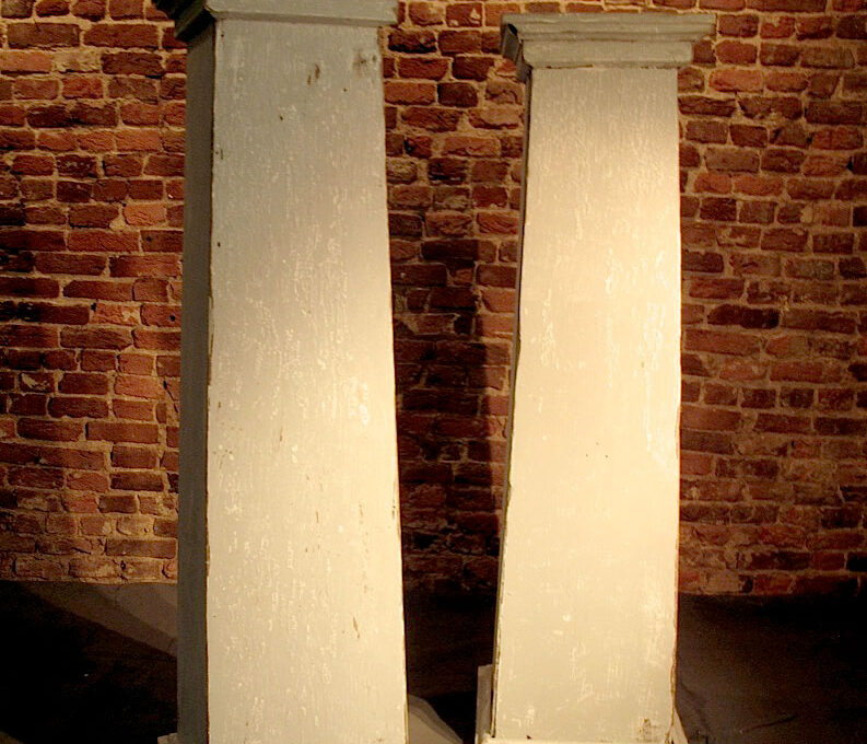 Pair of Wood Columns Circa 1900