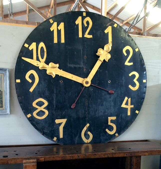 French Iron Tower Clock Face and Hands