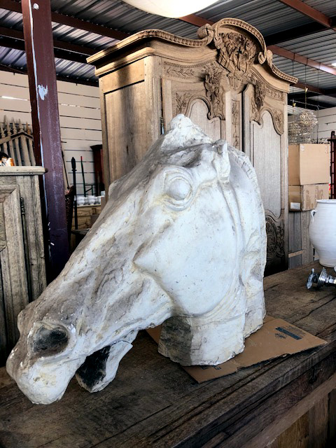 Greek Horse Head Sculpture