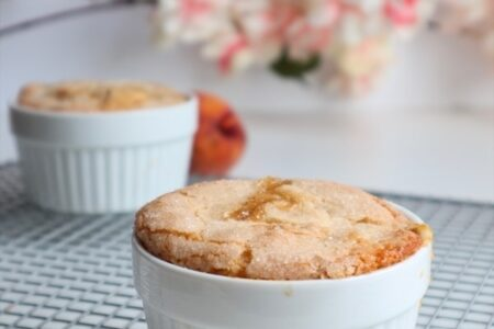 Peach Cobbler Recipe for two