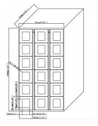 SnapVend 18-Door Locker Standard Size Bays