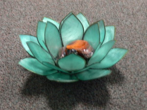 Lotus with crystals
